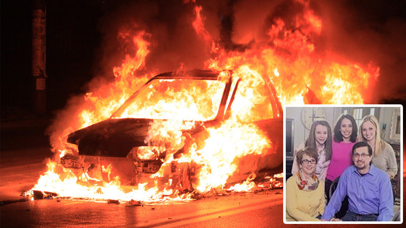 This Couple Was Burning Alive…Then an Angel Appeared and Saved Them