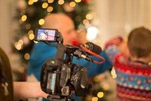 filming GOD TV's Christmas dents