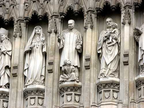 Martin Luther King Statue at Westminster Abbey