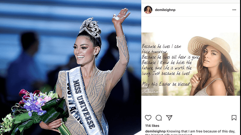 Crowned Miss Universe: A Woman Who Truly Fears God