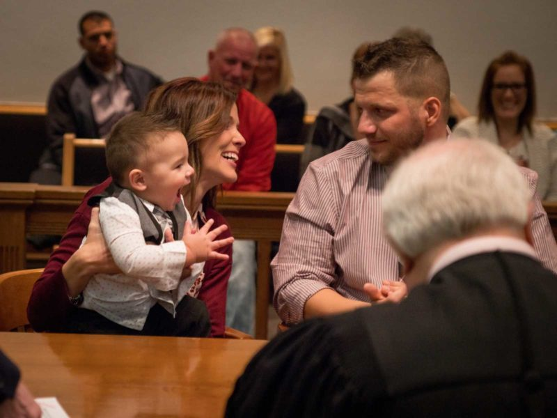 Little Boy's Reaction After Officially Getting Adopted Melts Everyone In The Courtroom