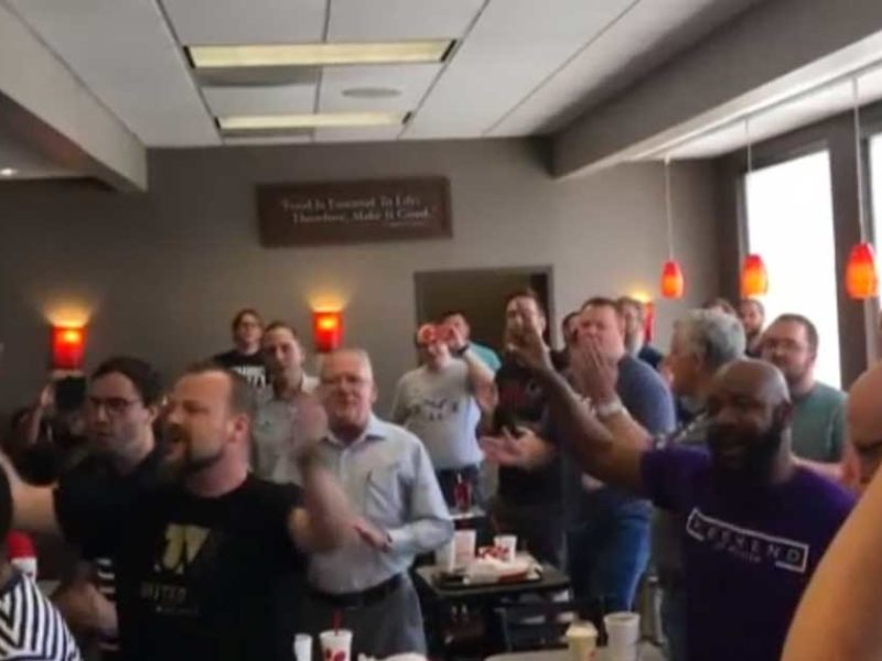 'Every Praise' Christian Flash Mob Song Breaks Out In Chick-fil-A