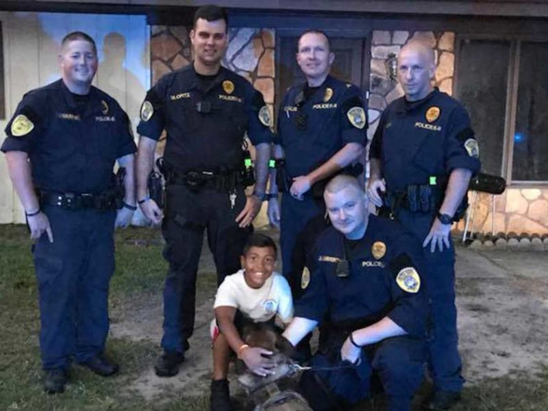 Police Officers Offer A Powerful Prayer For Boy With Brain Tumor