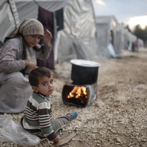Syrian Refugees at Israeli Border