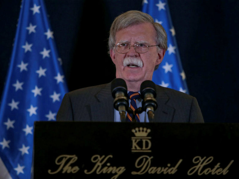 Bolton: Israeli Strikes In Syria Legitimate Self Defense