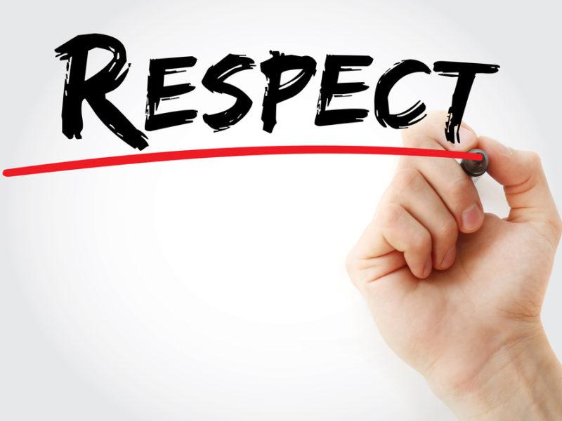 πειθαρχημένο μυαλό και σεβασμός