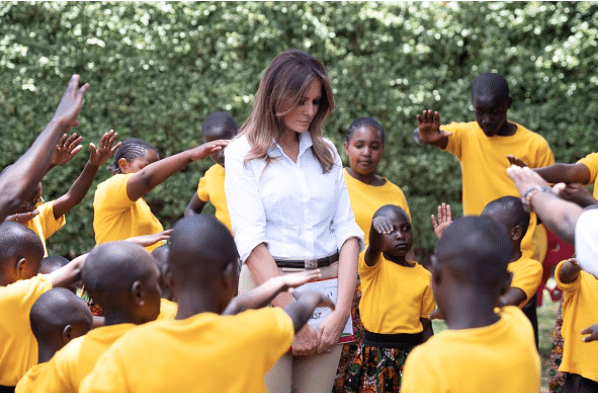 Kids in an African Orphanage Wanted to Pray for the First Lady. Very Sweet