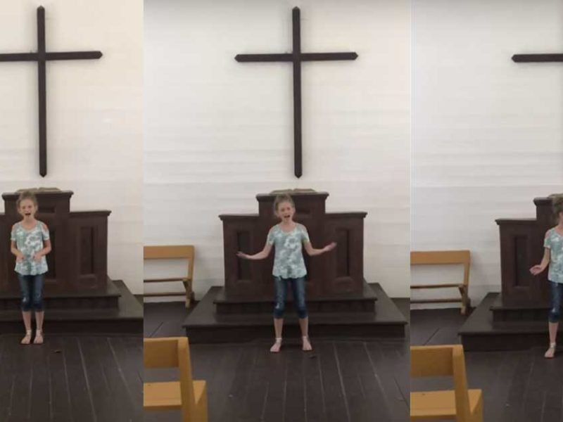 12 Year-Old Girl Powerfully Sings 'How Great Thou Art'