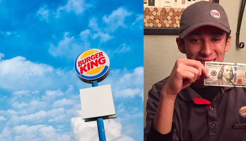 Homeless Man Went Into A Burger King With Only 50 Cents, What The Crew Did Went Viral