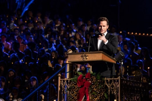 Chris Pratt Shares The Love Of Jesus At Disneyland's Christmas Celebration