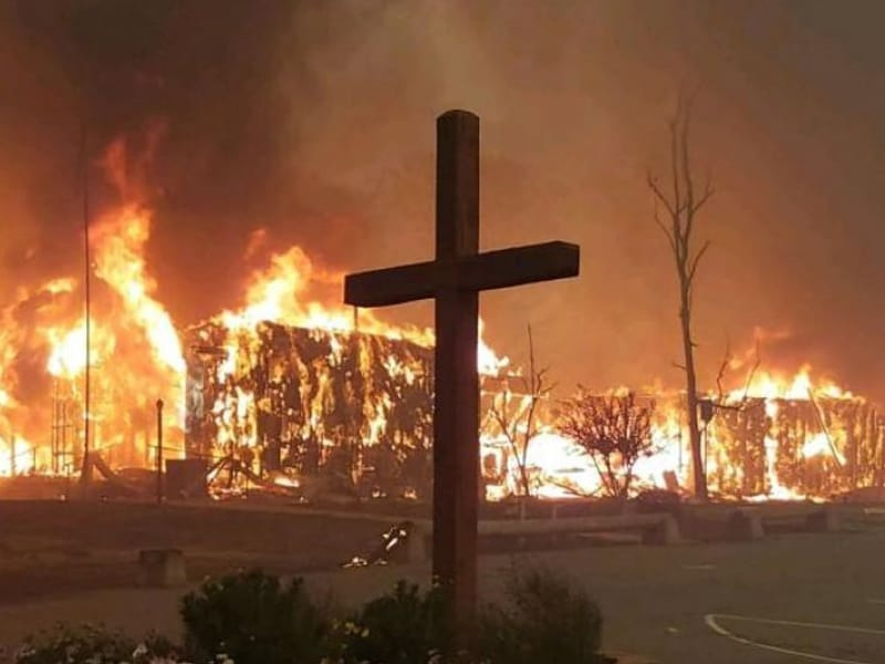 Wooden Cross Miraculously Survived California Wildfire