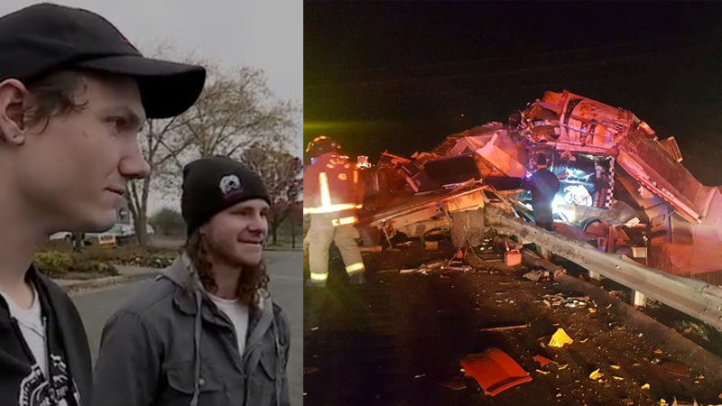 Two Men Heard God's Voice Just Before A Truck Crashed Into Their Vehicle