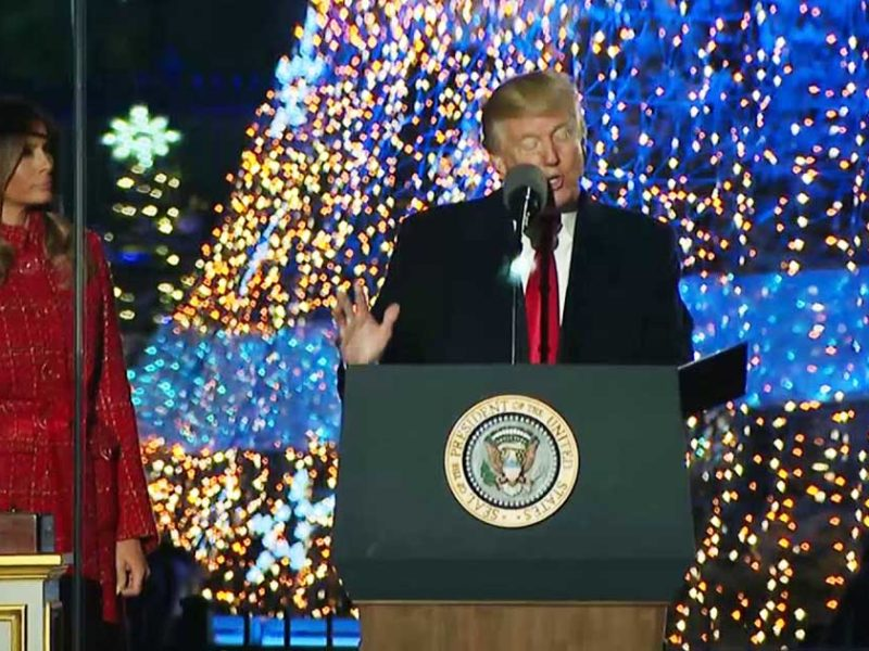 President Trump Puts 'Christ' Back Into Christmas At National Tree Lighting Ceremony
