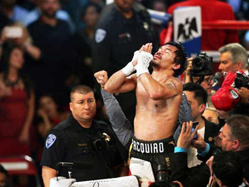 """Manny Pacquiao After Winning The WBA Fight: """"Thank You Lord For The Victory!"""""""