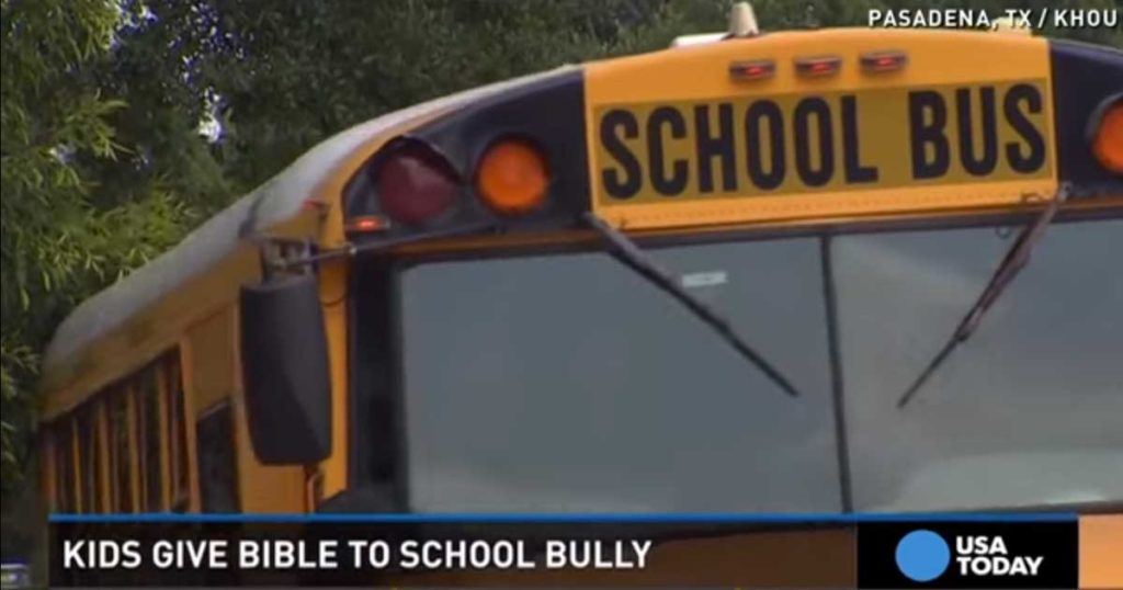 Two Kids Use Bible To Silence Bully