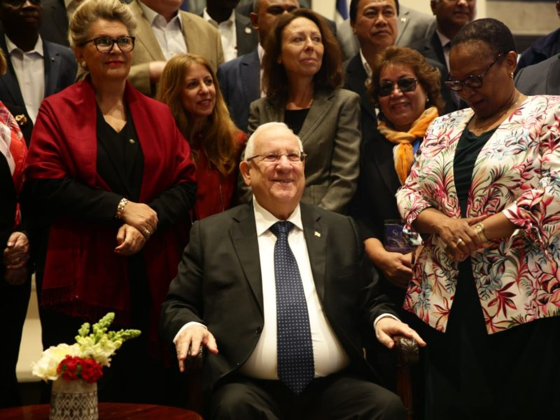 President Rivlin Hosts 30 Ambassadors from Around the World