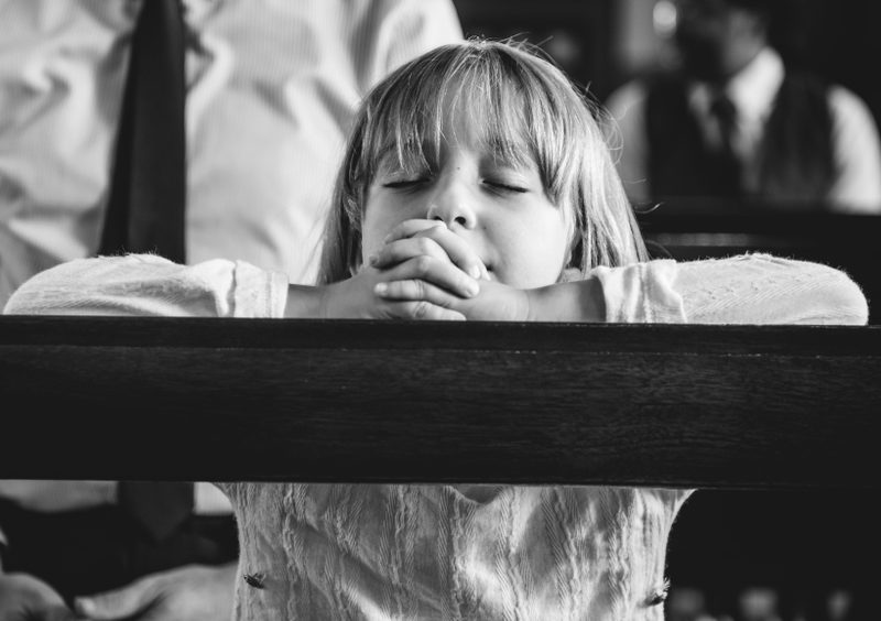 Little Girl Stands in Offering Plate at Church for Sweetest Reason