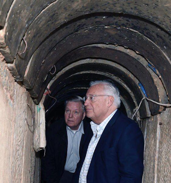Sen. Graham Tours Terror Tunnel on Gaza Border, on Way to Golan Heights