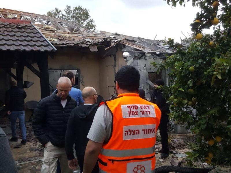 Home Directly Hit By Rocket; 7 Israelis Injured
