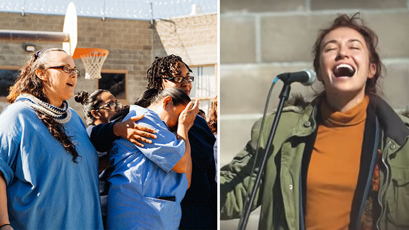 """I Was In Prison And You Came To Visit Me"" –  Lauren Daigle Worships With Inmates"
