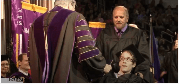 Man With Cerebral Palsy Earns A Bachelor's Degree Against All Odds