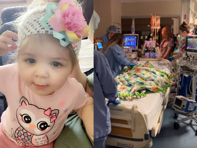 Hospital Staff Honors Baby Organ Donor By Singing 'Amazing Grace' As She Takes Her Final Journey