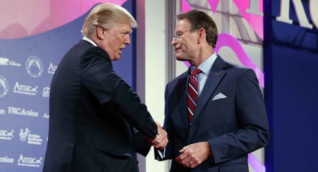 Tony Perkins and President Trump