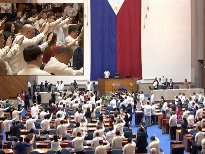 State Of The Nation: Government Officials Gathered To Pray During President Duterte's Address