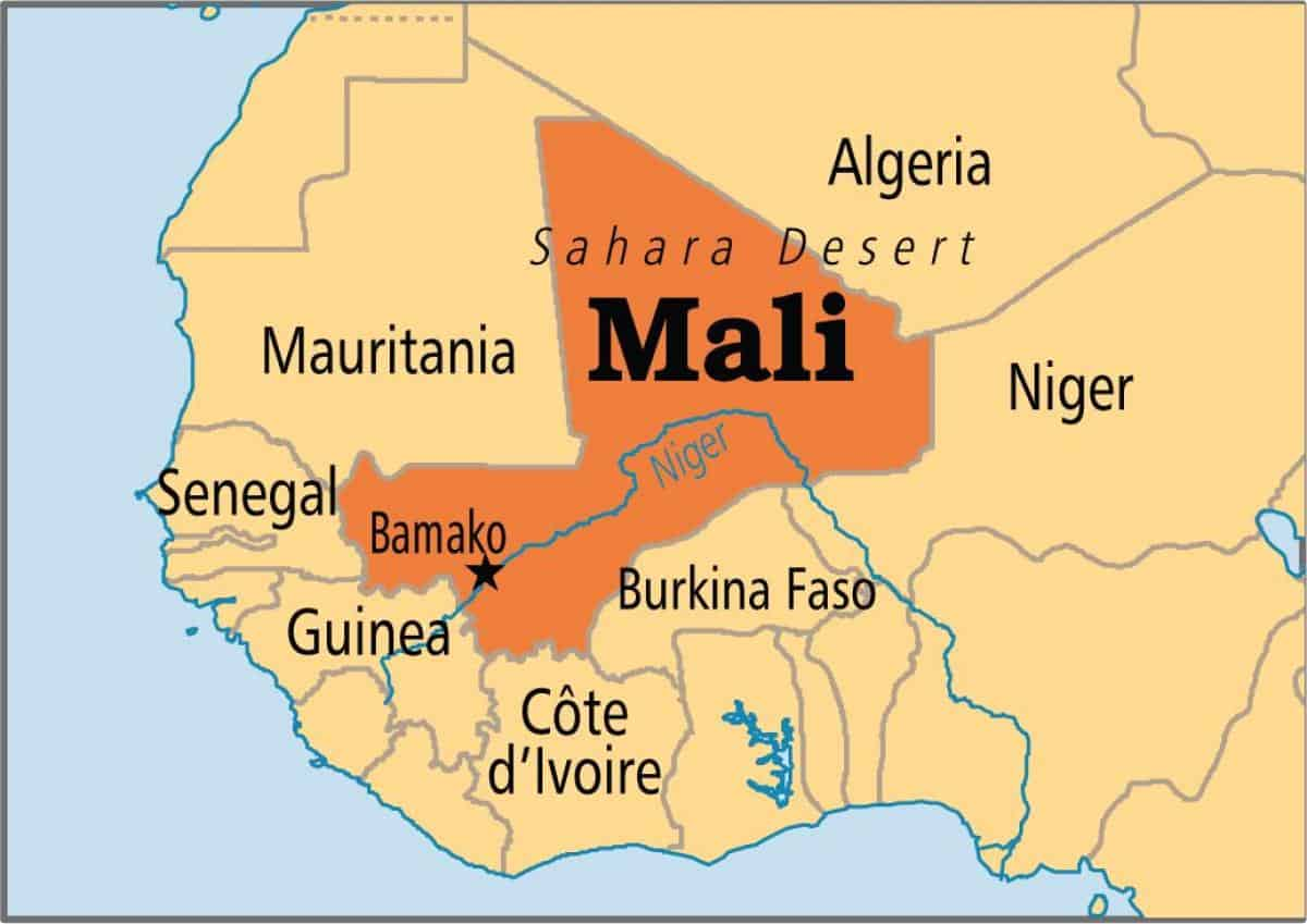 Mali, Africa map
