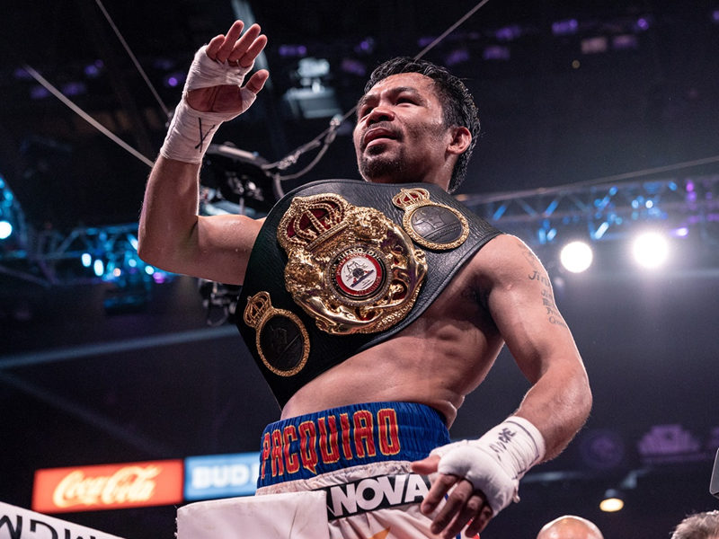 Manny Pacquiao Glorifies God After Winning Against Keith Thurman