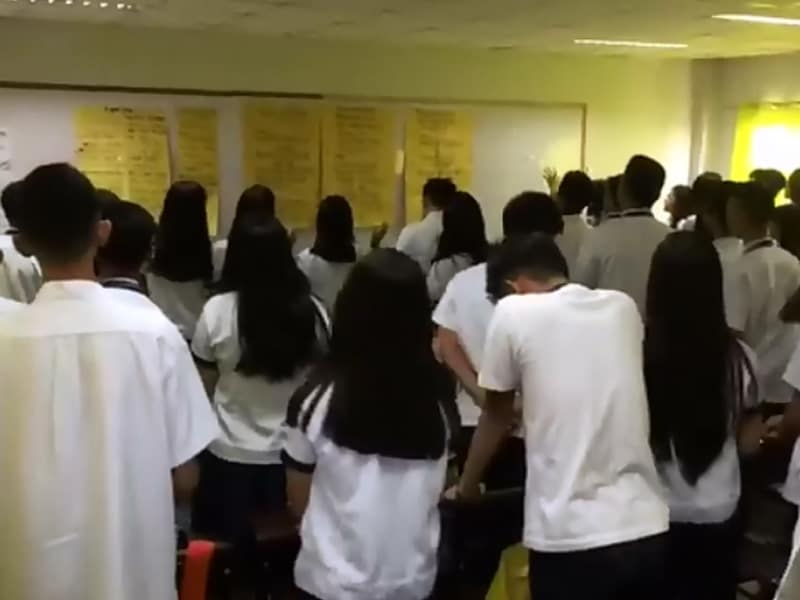 Students Fill Their Classroom With Praise And Worship To Start The Day