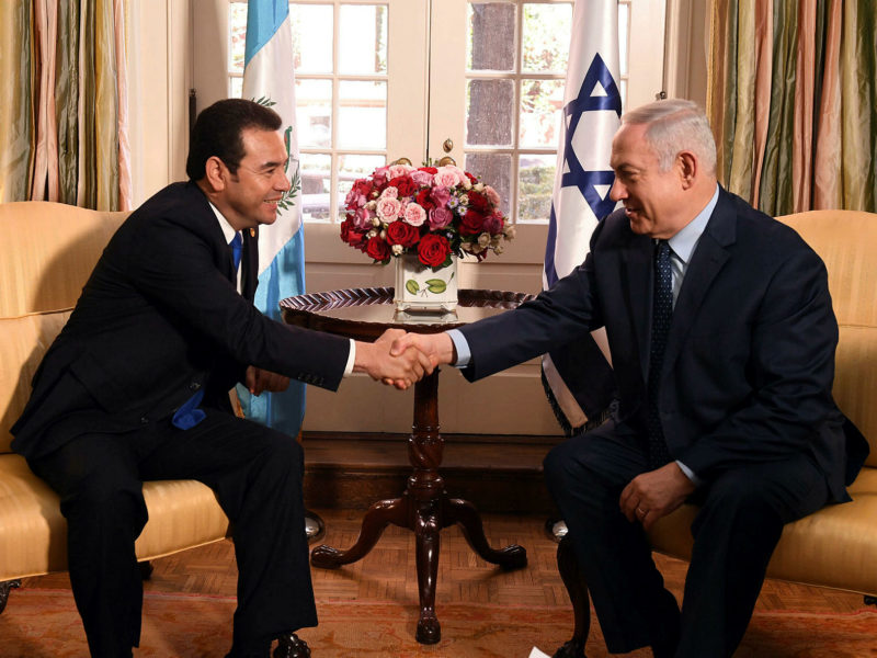 Netanyahu to Guatemala's President-Elect: 'Together We Will Strengthen the Excellent Cooperation'
