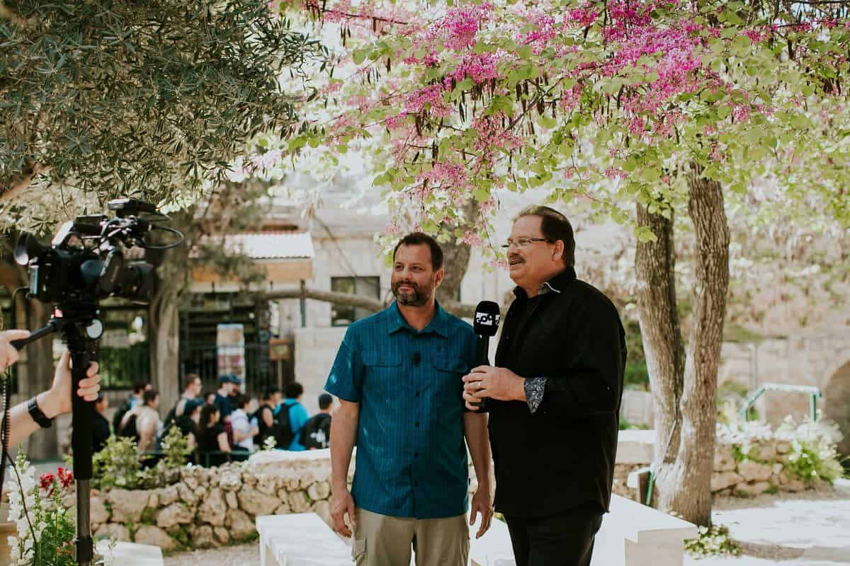 visiting Israel with GOD TV, Ron Cantor and Ward Simpson