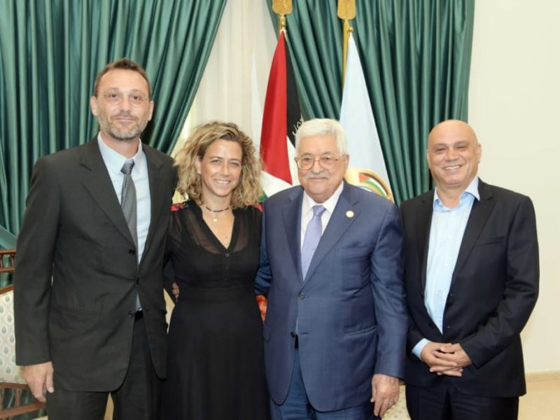Israeli Politicians Visit Abbas, Who Wishes for Netanyahu's Defeat in Elections