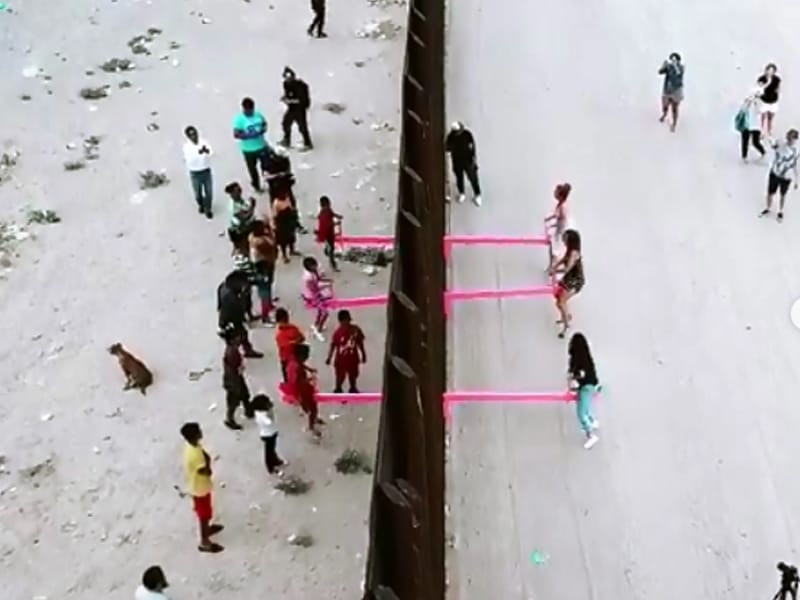 Seesaws At The US-Mexico Border