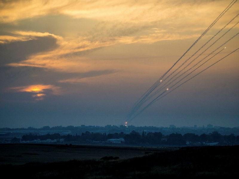 Hamas Test-Fires Rocket