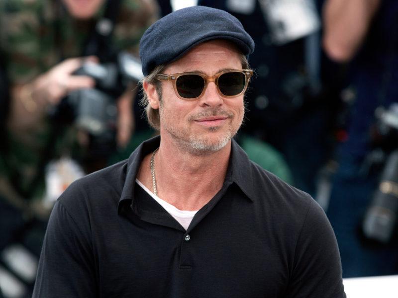 Brad Pitt Makes An Appearance At Kanye's Sunday Service