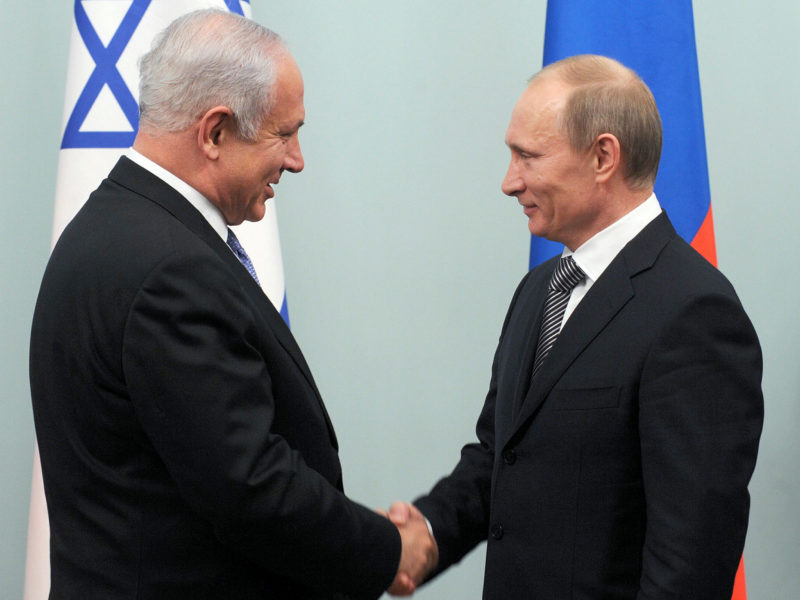 Russia's Putin, Latvia's Skvernelis Wish Netanyahu a Happy Birthday