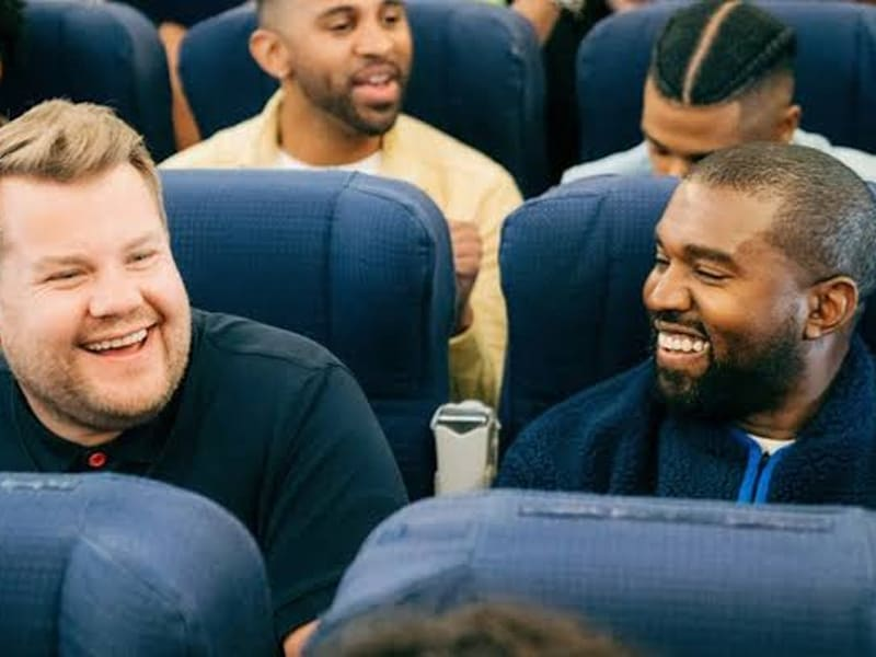 James Corden Says He 'Feels Closer To God' During 'The Late Late Show' With Kanye West