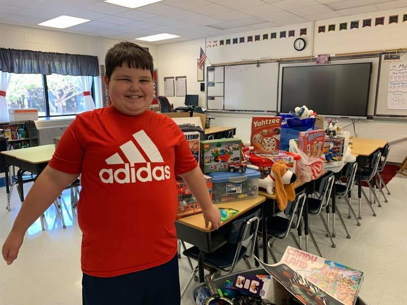Classmates Surprise Boy Who Lost Everything In Fire With Toys