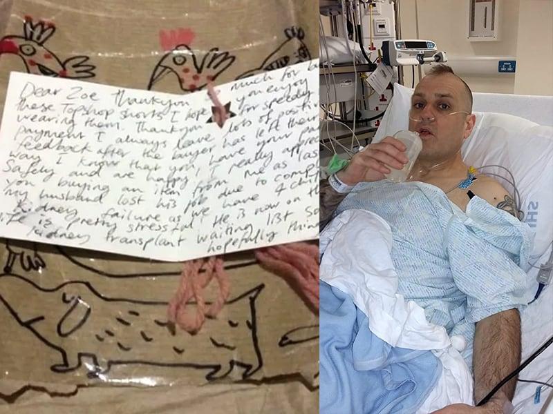 Man Donates Kidney To Stranger After Receiving Heartbreaking Note In eBay Parcel