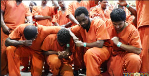 Kanye West leads prisoners to worship
