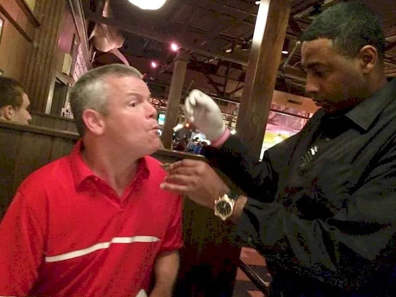 Waiter Stopped His Work To Help Man With Cerebral Palsy Eat