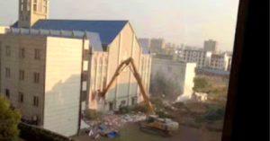 China demolish Megachurch building