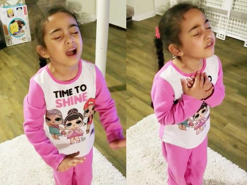 Holy Spirit Falls On 6-Year-Old Little Girl And Prays A Powerful Spirit-Led Prayer