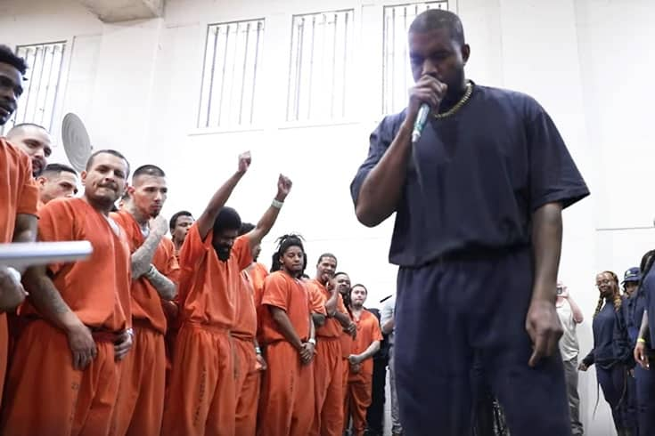 Kanye West Visits Texas Prison And Leads Inmates To Christ