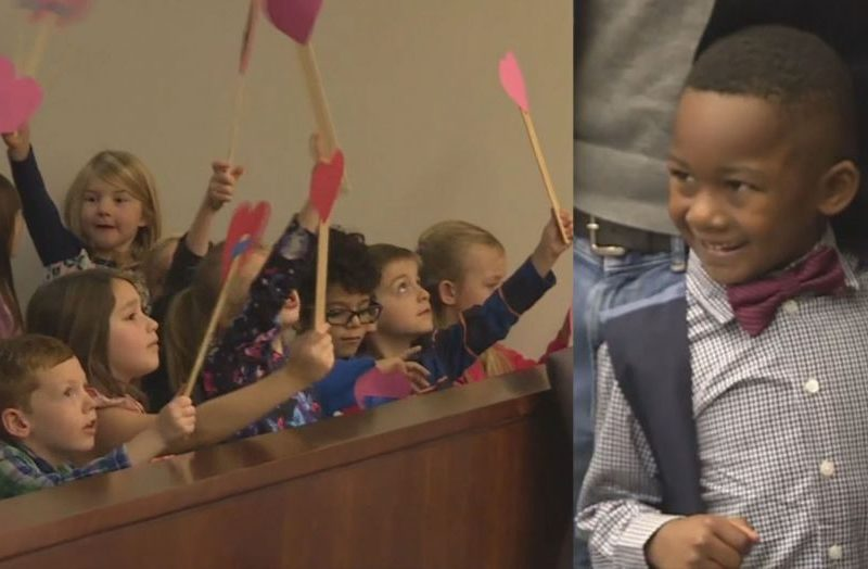 Boy Invites Entire Class To His Adoption Hearing And It's Heartwarming