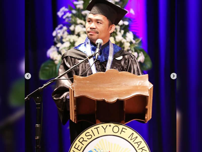 Boxing Champ Manny Pacquiao Graduates At 40-Years-Old