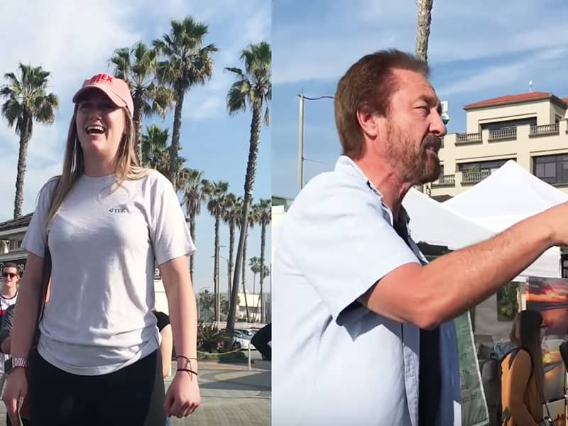 Woman Mocks Christian Evangelist Until She Hears Something She Can't Deny
