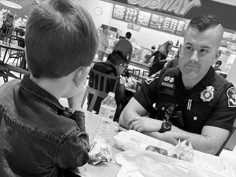5-Year-Old's Kindness To A Police Officer Made His Mom Cry